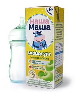 Биойогурт питьевой для питания детей раннего возраста с 8-ми месяцев, со вкусом зеленое яблоко