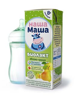 Биолакт - биопродукт кисломолочный, с яблоком и грушей, для питания детей раннего возраста с 8-ми месяцев