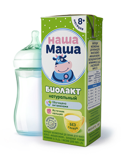 Биолакт - биопродукт кисломолочный, без сахара, для питания детей раннего возраста с 8-ми месяцев