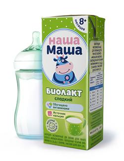 Биолакт - биопродукт кисломолочный, с сахаром, для питания детей раннего возраста с 8-ми месяцев