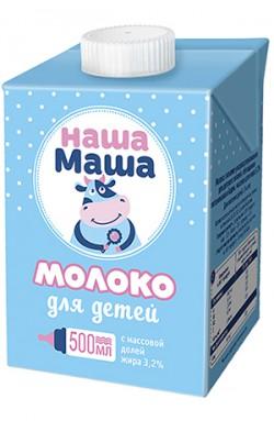 Молоко питьевое ультрапастеризованное для питания детей с 3-ех лет, с м.д.ж. 3,2%, 500 мл