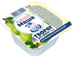 Творог для питания детей раннего возраста с 6-ти месяцев, со вкусом груша