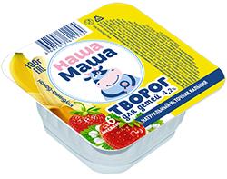 Творог для питания детей раннего возраста с 6-ти месяцев, со вкусом клубника и банан