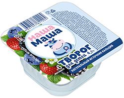 Творог для питания детей раннего возраста с 6-ти месяцев, со вкусом левых ягод